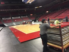 Kohl center change-over