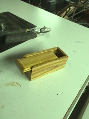sliding lid box from Red Sumac wood